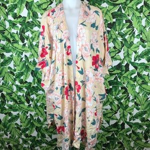 5 for $25 Roxy Peony Floral Pink Kimono